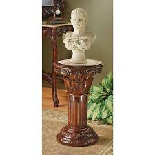 "AE 118024 Imperia Inlaid Marble Pedestal Display Stand - Medium 23"""