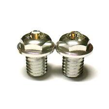 gobike88 XON Swarovski Crystal Pivot Bolts, M8XP1.25X10, Silver, P12