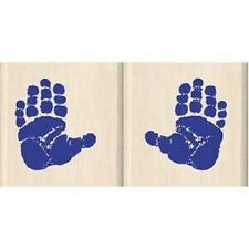 INKADINKADO Wood Mounted Rubber Stamps BABY HANDS Right Left 4548 Birth Birthday