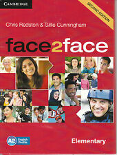 CAMBRIDGE Face2face Elementary SECOND EDITION Class Audio CD's (3) @BRAND NEW@