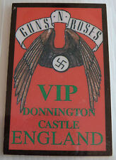 GUNS N ROSES Laminated VIP Backstage Tour Pass - Donnington Castle England