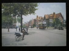 POSTCARD B42-2 LEICESTERSHIRE LEICESTER - HILL TOP LONDON ROAD TRAM EARLY 1900'S