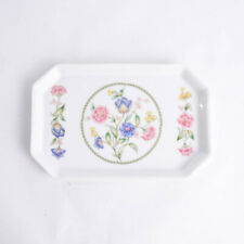 Porcelain Art Nouveau Floral Octagonal Rectangle Vanity Trinket Tray Dish