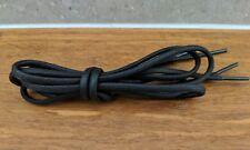 1 Pair 100cm Black Shoe Lace 5mm Thick Round Boot Lace