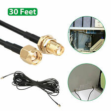 30ft WiFi Antenna RP-SMA Extension Coaxial Cable Cord for Wi-Fi Wireless Router