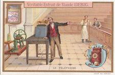 TÉLÉPHONE APPAREIL TÉLÉPHONIQUE   INVENTION 1900s CARD CHROMO