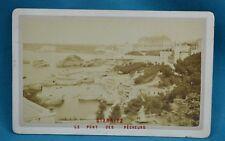 1870/80s CDV France Carte De Visite Photo Biarritz Le Port Des Pecheurs