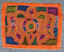 ETHNOGRAPHIC ART BY KUNA WOMEN AQUATIC TURTLE MOTIF MOLA APPLIQUED TEXTILE