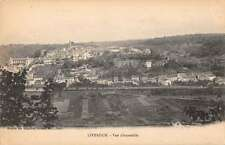 Liverdun France panoramic birds eye view of area antique pc Z22499