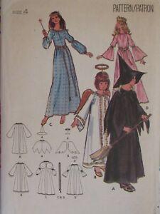 VTG 70s BUTTERICK 4938 Girls Angel Fairy Princess & Witch COSTUME PATTERN 4/23B