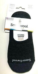 Smartwool Hide & Seek Charcoal Medium Womens Shoe 7-9.5 Gray Slip On Merino Wool