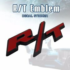3D Metal Red R/T Logo RT Emblem Rear Trunk Tail Badge Car Sticker Fit for Dodge
