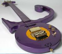 Top Quality Customized Pince Electric Guitar Speical Shape CNC Made Metal Purple