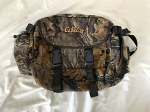 Cabelas Large XL Camo Fanny waist pack real tree Hunting Camouflage Crossbody