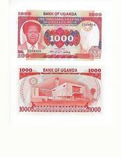UGANDA  1000 SHILLINGS MILTON OBOTE SCARCE    NICE UNC