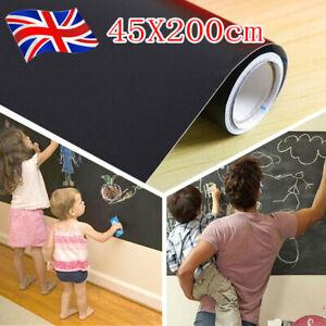 Removable For Kids Rooms Chalk Board Blackboard Vinyl Art Draw Stickers 45*200