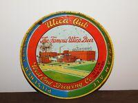 """VINTAGE BAR 11 3/4"""" ACROSS UTICA CLUB WEST END BREWING BEER  METAL SERVING TRAY"""