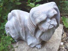 standing Pekingese dog mold latex mold w/ plastic backup casting mold