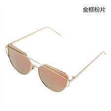 Retro Metal Frame Mirrored Sunglasses Designer Women's Outdoor Glasses Eyewear