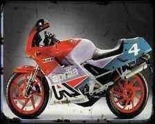 Aprilia Af1 125 Sintesi Replica A4 Metal Sign Motorbike Vintage Aged