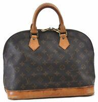 Authentic Louis Vuitton Monogram Alma Hand Bag M51130 LV B6551