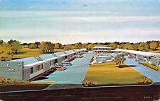 Forrest City Arkansas~Carl's Courts~Roadsde Motel~1960s Artist Drawn Postcard