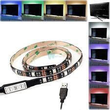 Multi Color RGB LED Bias Lighting for TV HDTV Monitors USB LED Strip Background