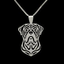 """Mastiff Necklace 16"""" Box Chain Stainless Steel Pendant New Dog Charm French"""