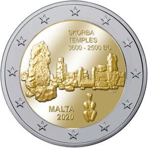 Malta 2 Euro Gedenkmünze 2020 UNC Tempel Skorba Ta' Skorba lose