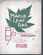 Maple Leaf Rag Scott Joplin Large Format Sheet Music