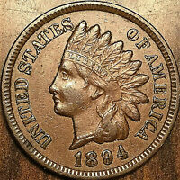 1894 USA INDIAN HEAD SMALL CENT - Excellent example!