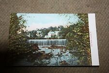 Vintage Postcard Bond Brook, Augusta, Me., Waterfalls