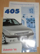 Prospectus de voiture publicité peugeot 405 accessoires + liste de prix cahier publicité 1995 voiture