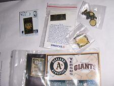 American Oakland A's Baseball Collector Pin Fan Pack ! 6 Original Pins .