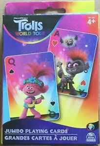 Spin Master Games DreamWorks TROLLS WORLD TOUR Jumbo Playing Cards for Ages 4+