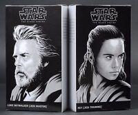 "Star Wars Black Series The Last Jedi 6"" Rey & Luke Skywalker SDCC 2017 NEW"