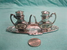 Vintage Silver Teapot Set Chinatown NY Salt and Pepper Shakers Ceramic    23