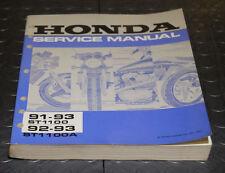 NOS OEM Honda Service Shop Manual NEW 91-93 ST1100 92-93 ST1100A ST 1100 A