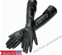 Women's  Leather Long Gloves Evening Party Fashion Warm Gloves