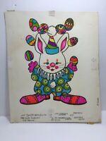Vtg 73 Norcross Easter Card Bunny Rabbit Clown Juggling Original Artwork Proof