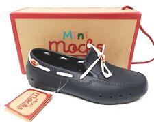 Girls Mini Mocks Navy Rubber Croc Type Slip On Shoes UK Size 4 Euro 37