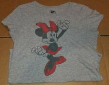 Disney Old Navy Minnie Mouse Distressed T-shirt Ladies L Large Gray 90/10