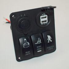 Aluminium 3 Gang Switch Panel Circuit Rocker Breaker Car Rv Boat Marine Handy