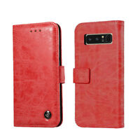 Retro Genuine Leather Flip Card Slot Wallet Stand Cover Case For iPhone/Samsung