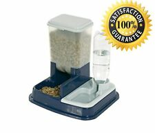 Pet Cat Dog Dry Food Water Dispenser 2 In 1 Automatic New Feeder Station Feeding