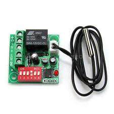 Interruttore Controllo Temperatura 20-90℃ Digitale Termostato Sensor DC 12V