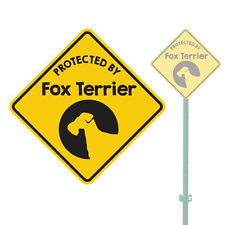 """Beware Of The Dog Protected By Fox Terrier Heavy Duty Aluminum Sign 11"""" x 11"""""""