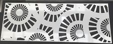 Decorative Garden Metal Fence Screen 'Wagon Wheel D2 1800x900