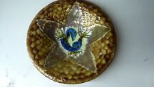 HAND PAINTED FISH NEWT PORCELAIN CLOISONNE PLATE SIGNED LIMOGES NELLY AMADIEU