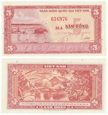 SOUTH VIETNAM 5 Dong, 1955, P-13, Buffalo, AUNC